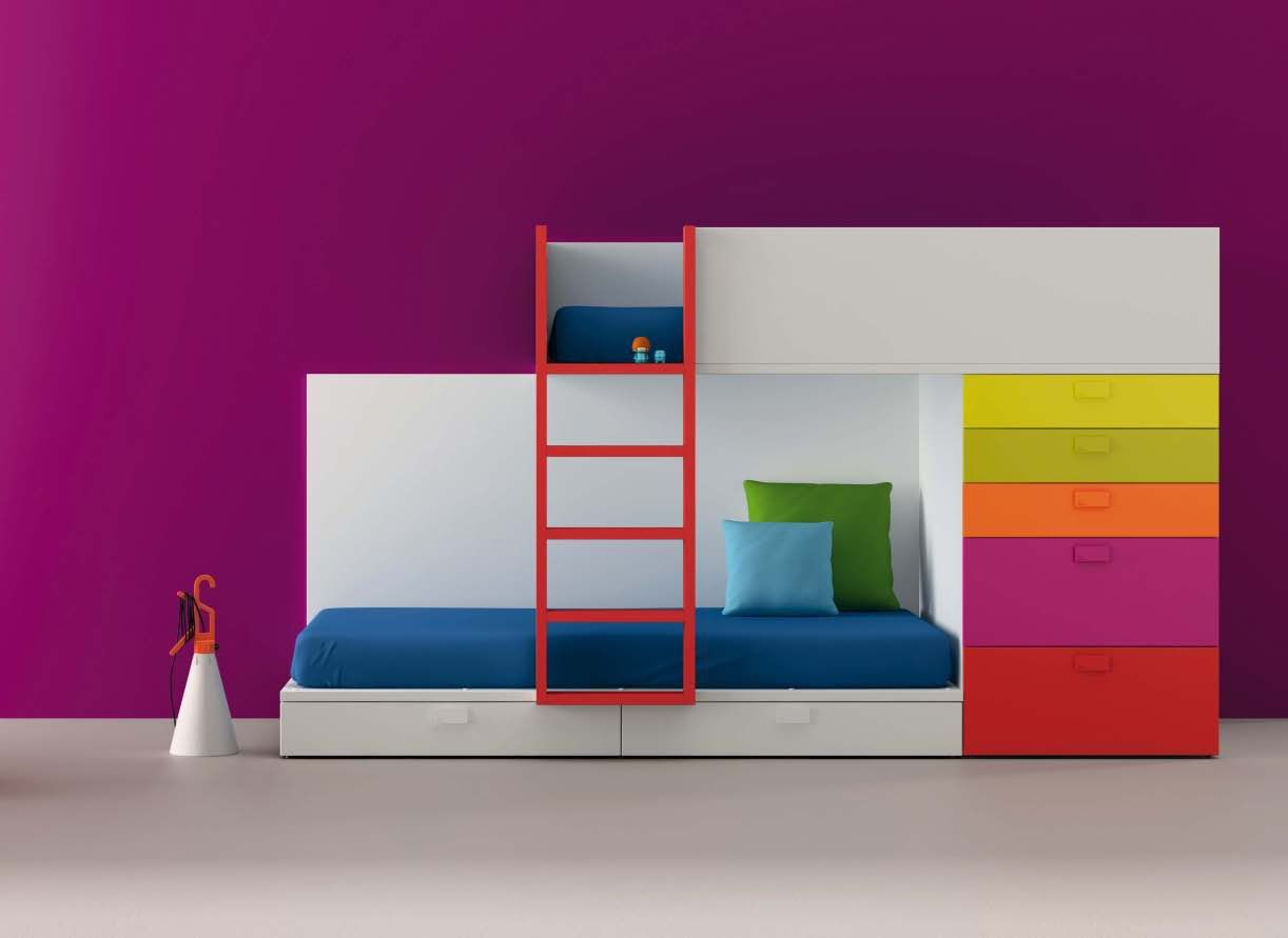 Kids metal loft bed with slide  PIXENTER Ivan Solano impresiondirect on Pinterest