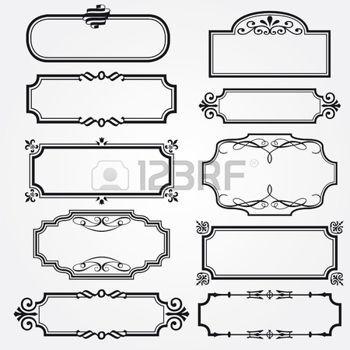 Vector decorative ornate design elements & calligraphic page decorations photo
