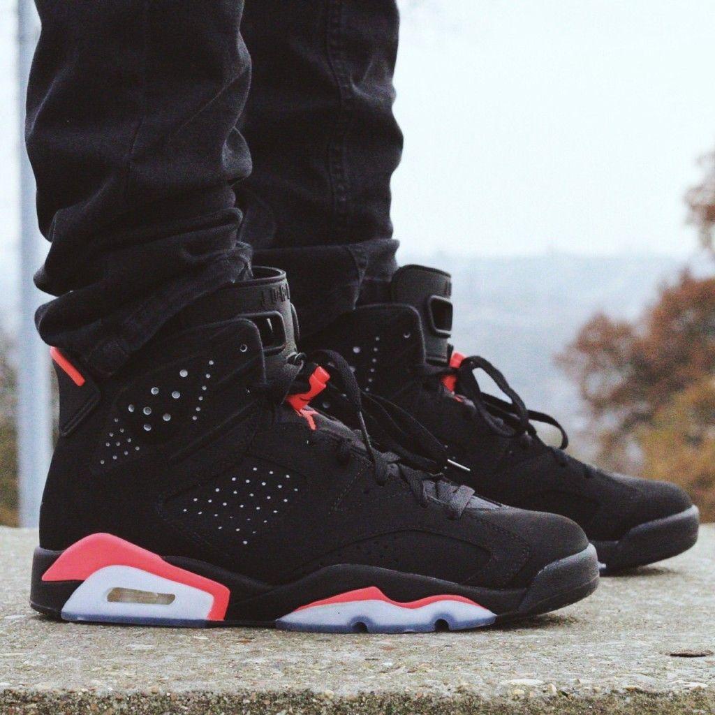 Air Jordan 6 Black Infrared Sneakers Men Fashion Jordans Outfit For Men Mens Shoes Casual Sneakers