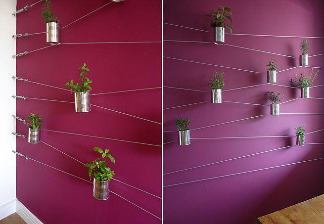 Recicling cans - cute idea!