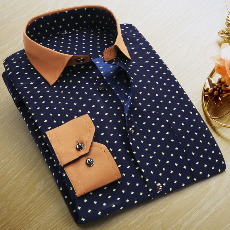 c362fd9cce9b2a Long Sleeve Floral Printing Men Shirts Men s Business Formal Shirts Plus  Size Casual Slim Fit Male Shirts Camisa Hombre-in Casual Shirts from Men s  Clothing ...