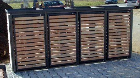 Schuppen Für Mülltonnen mülltonnenbox für 4 mülltonnen | hausideen in 2018 | pinterest