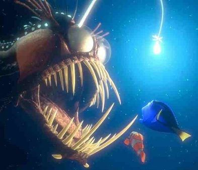 finding nemo scary light fish google search advanced