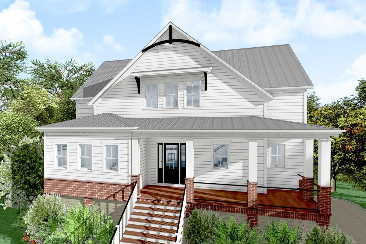 Plan 765007twn Darling 3 Bedroom Low Country Cottage Home Plan With Wraparound Porch Cottage Homes Country Cottage Interiors Cottage House Plans