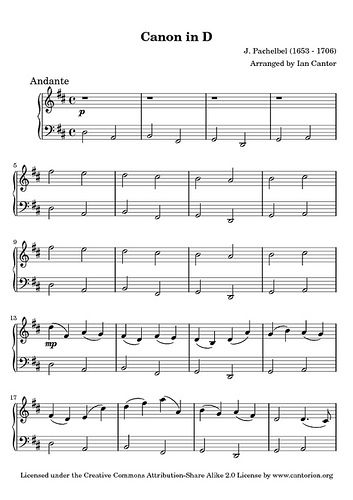 Pachelbel Canon D Piano Sheet Music I Would Say This Is Very Fresh