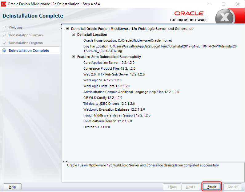 How to uninstall WebLogic 12C | catgovind | How to uninstall