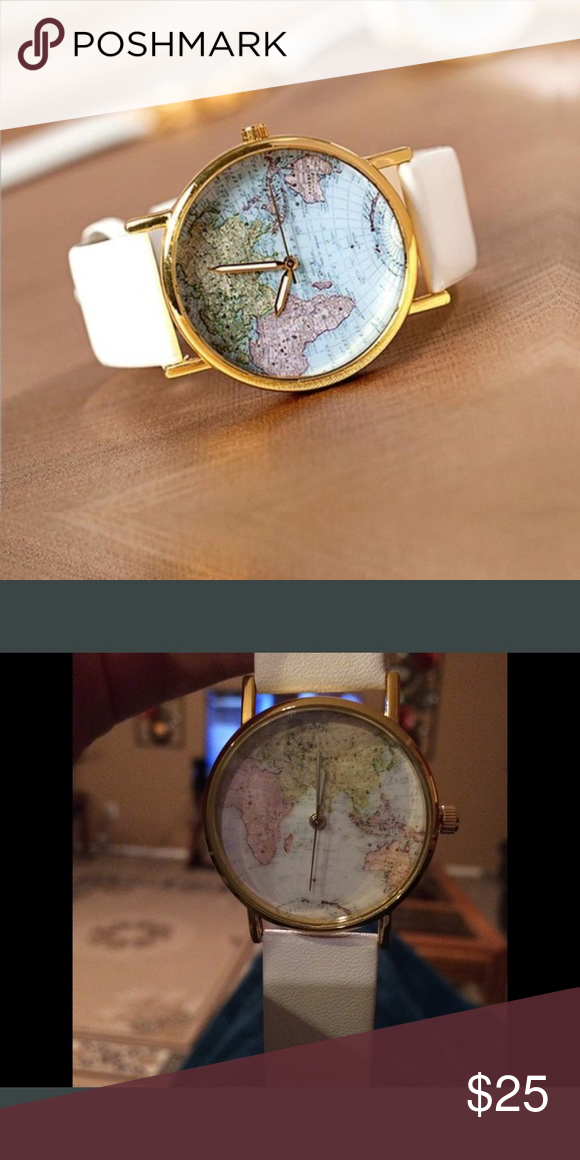 World map watch map watch gold and customer support world map watch gumiabroncs Choice Image