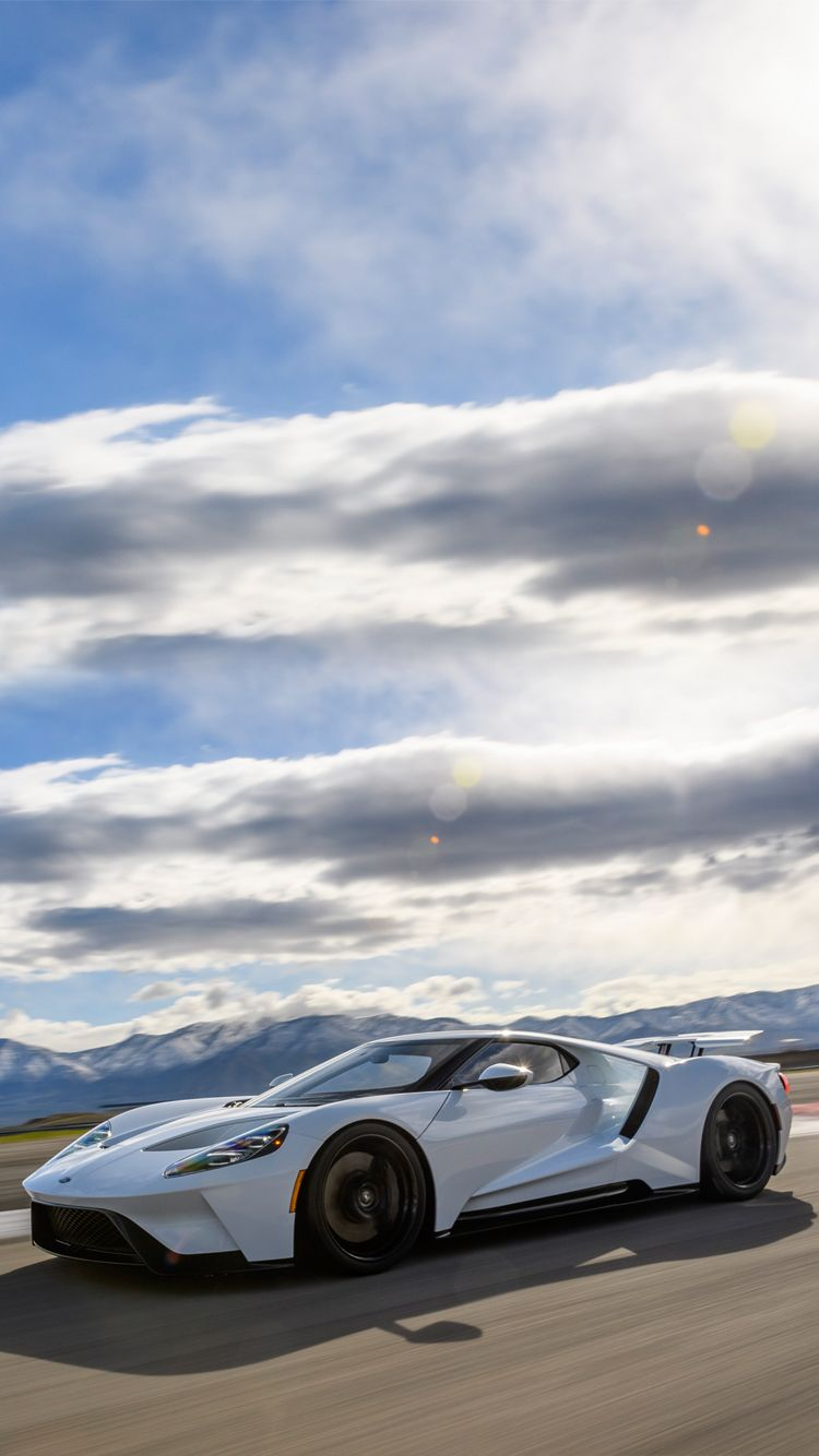 Universal Phone Wallpapers Backgrounds White Ford Gt Super Car Iphone Htc Samsung