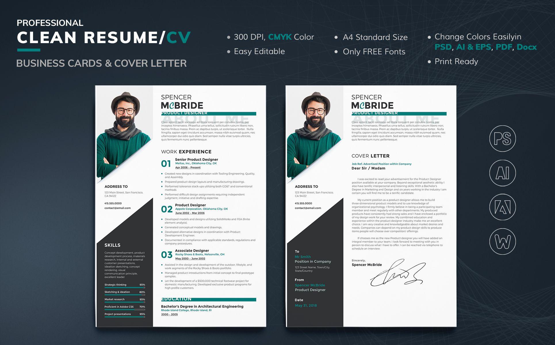 Spencer McBride - Product Designer Resume Template #69714 ...
