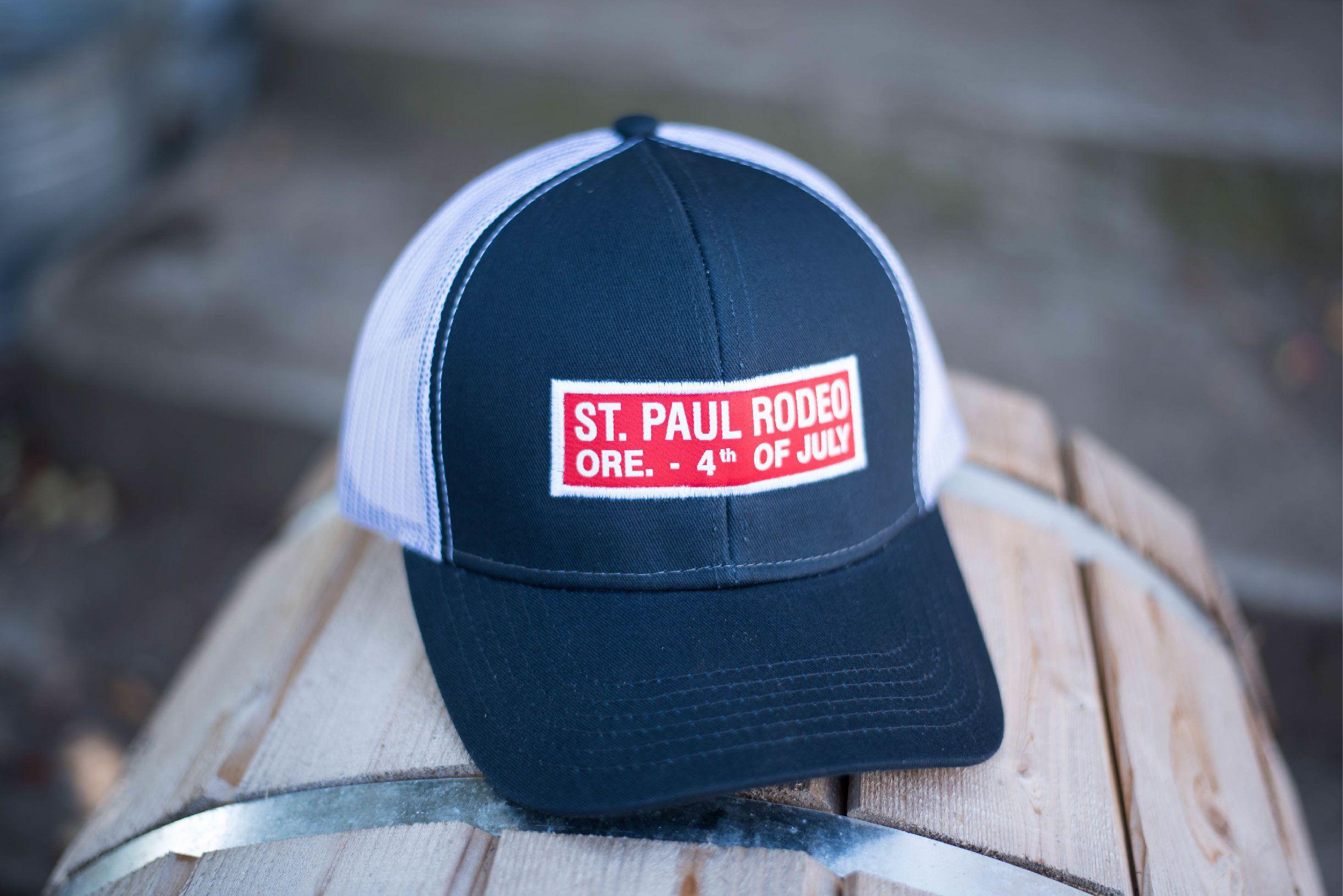 3858e442ae9cb 2017 Bumper Sticker SPR cap. Our most popular souvenir item. Pick up at the  2018 St. Paul Rodeo - July 3 thru 7