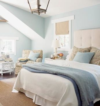 Calming rela peaceful master bedroom color palette. Decorating With Blue   The natural  Bedroom color palettes and