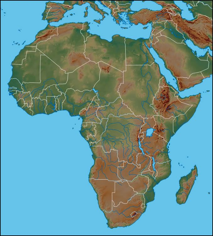 Physical Map of Africa Africa Political Map Geologycom