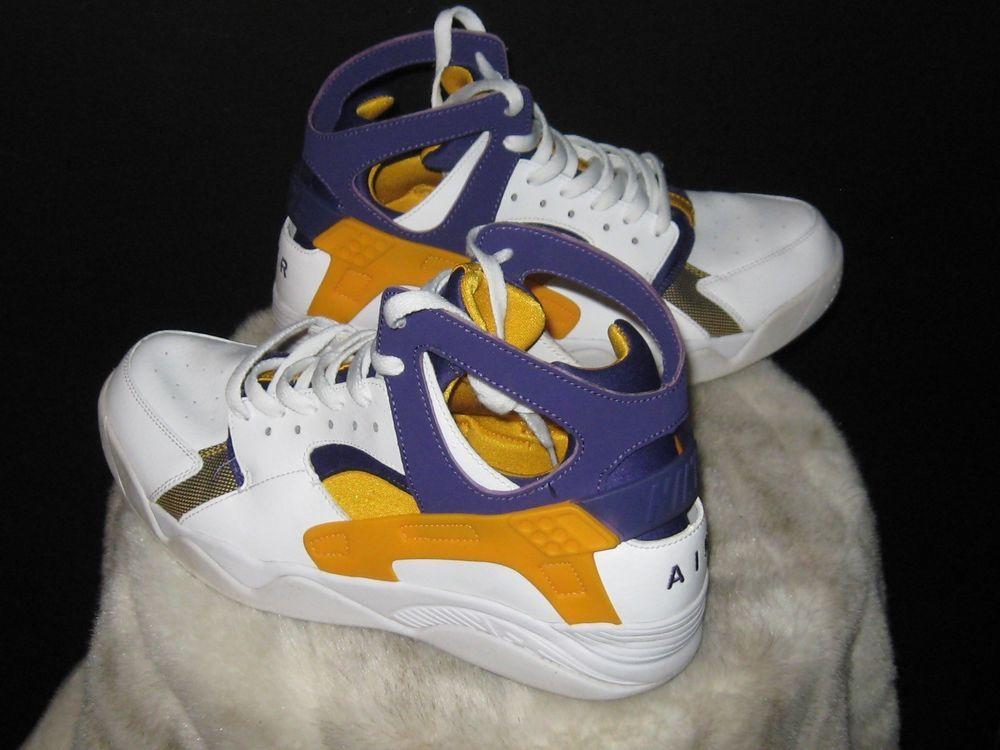 new concept d434b 9190c Men s Nike Air Flight Huarache Run High Sneakers Sz 10.5 LA Lakers 705005  101  Nike  BasketballShoes