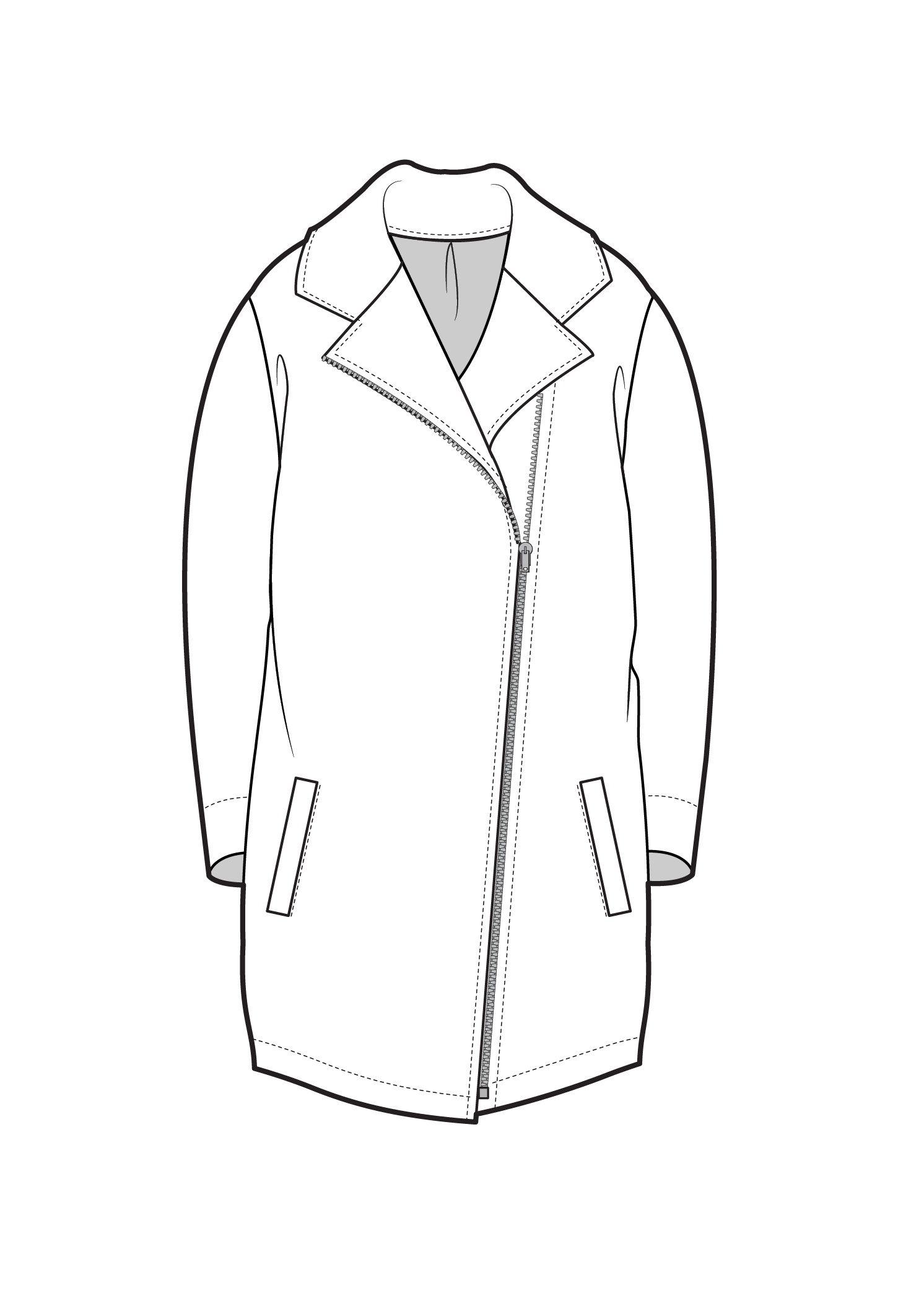 Biker Jacket | F Sketches | Fashion Sketches Fashion Flats Fashion Design Sketches