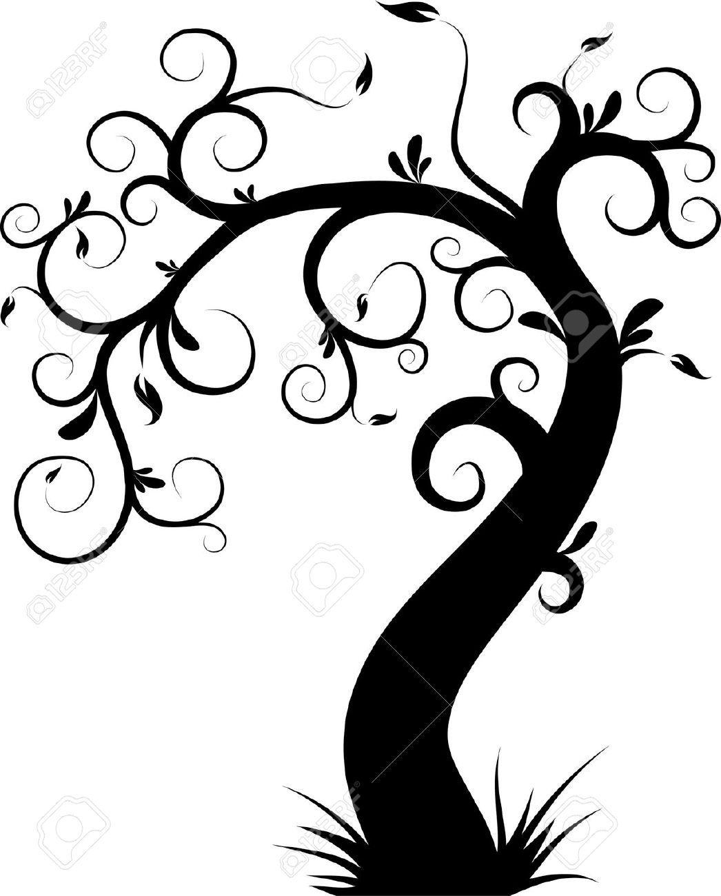 arbre d coratif illustration vectorielle favorite painting ideas pinterest stenciling. Black Bedroom Furniture Sets. Home Design Ideas