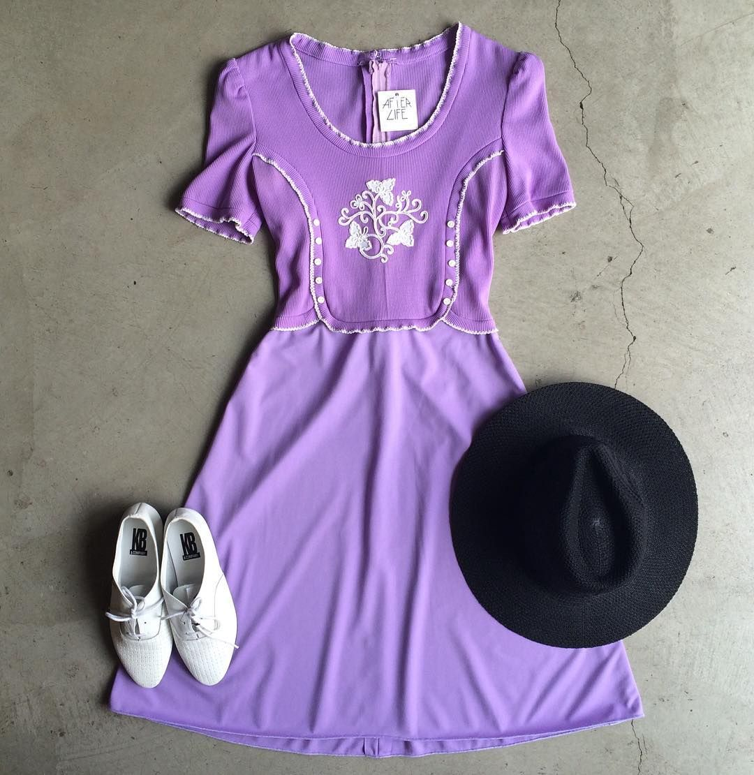 """Vintage Dress $42+$8(shipping) Size S(26""""waist) & 90s Leather Shoes $30+$8(shipping) Size 7 & Alexandra Hat $28+$8(shipping) Contact the shop at 415-796-2398 to purchase by phone or send PayPal payment to afterlifeboutique@gmail.com and reference item in post; the first confirmed payment will get the item.  Call or DM with other questions."""