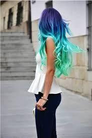 Afbeeldingsresultaat voor dyed hair