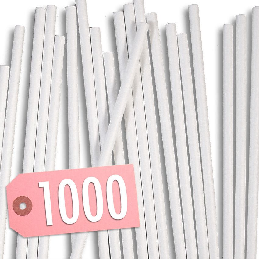 "- 4-1/2"" Paper Lollipop Sticks - Paper lollipop sticks perfect for use in our chocolate lollipop molds. Also great for cakepops, hard candy and cookies. Please note: all of our chocolate molds use thi"