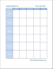 FREE Weekly Subject Planner for Homeschool! | Organize | Pinterest ...