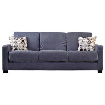 Handy Living Tahoe Convertacouch In Gray Microfiber With Black Geometric Circle Pillows More Info Could Be Found At Futon Living Room Diy Futon Handy Living