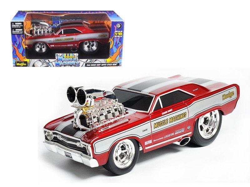 1968 Dodge Dart Super Stock Hemi Red \\Muscle Machines\\\