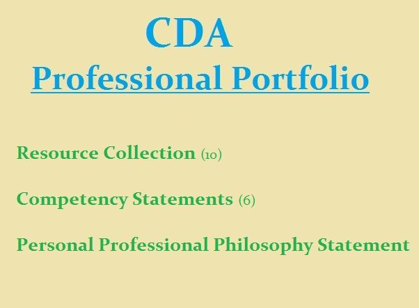 The basic CDA 20 Professional Portfolio requirements Infant - best of 8 child care philosophy statement examples