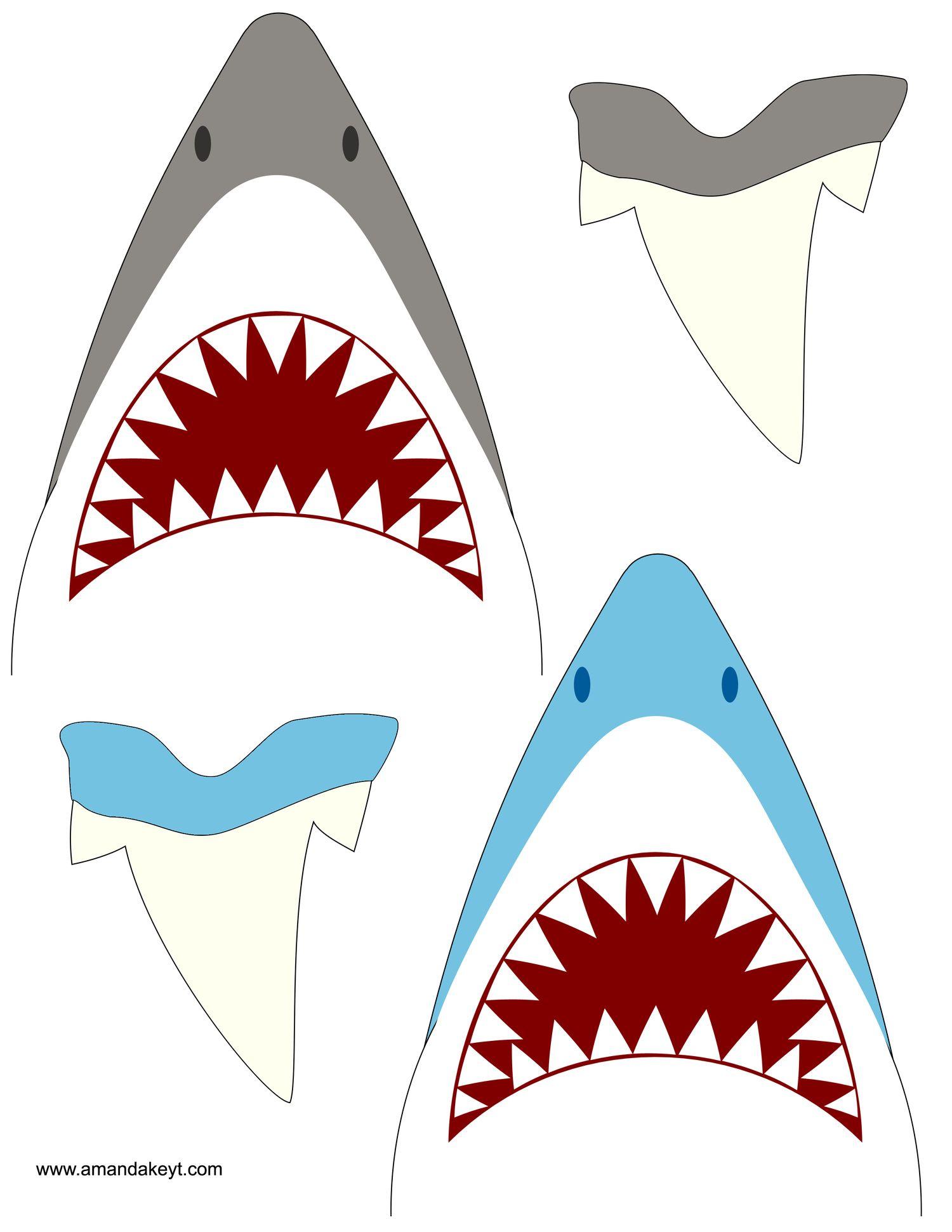 Shark Clipart Under The Sea Party Diving Ocean Life Deep Sea