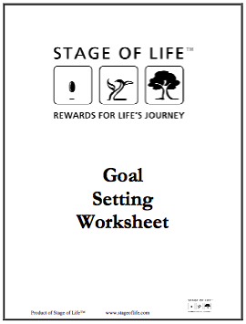 Download free Goal Setting Worksheet on StageofLife.com