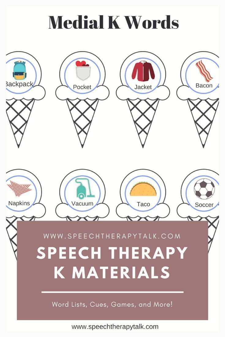 Worksheets Speech Therapy Worksheets k word list for speech therapy worksheets and therapy