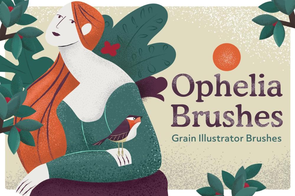 Ophelia Grain Vector Brushes в 2020 г Иллюстрации, Портрет