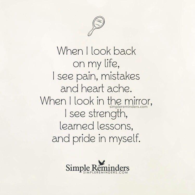 Looking Back Looking In The Mirror Speaks To Me Pinterest