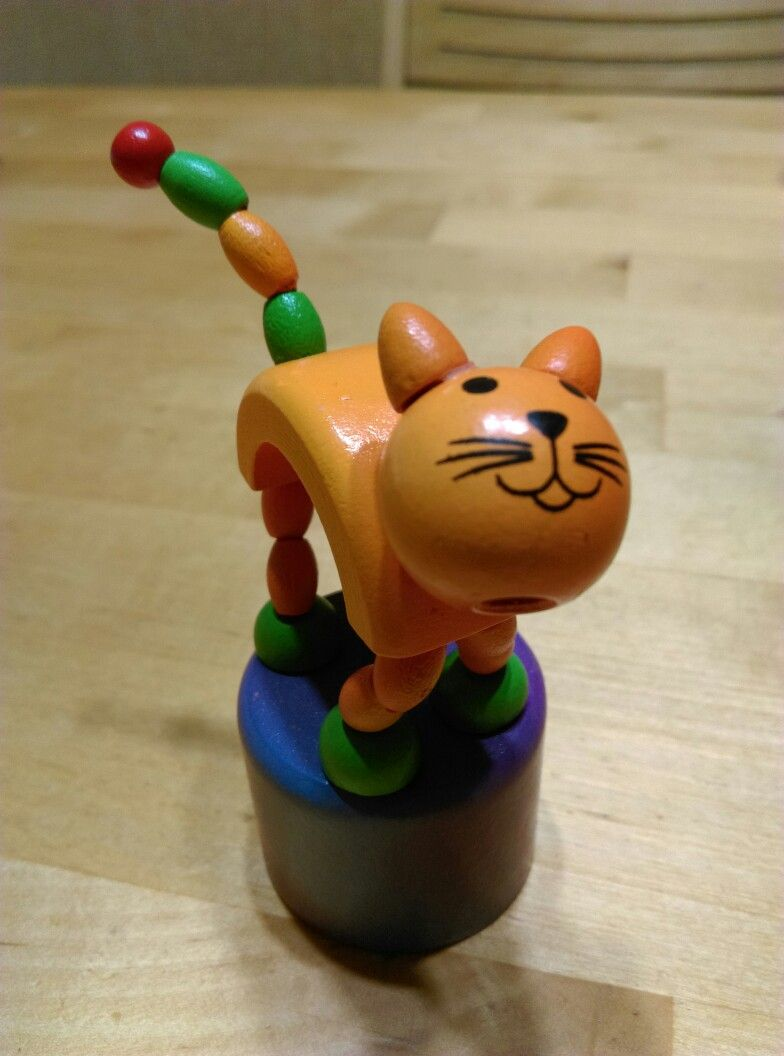 Car decoration toys  Wooden kitten dancing toy  Toys of wood  Pinterest  Toys Kittens
