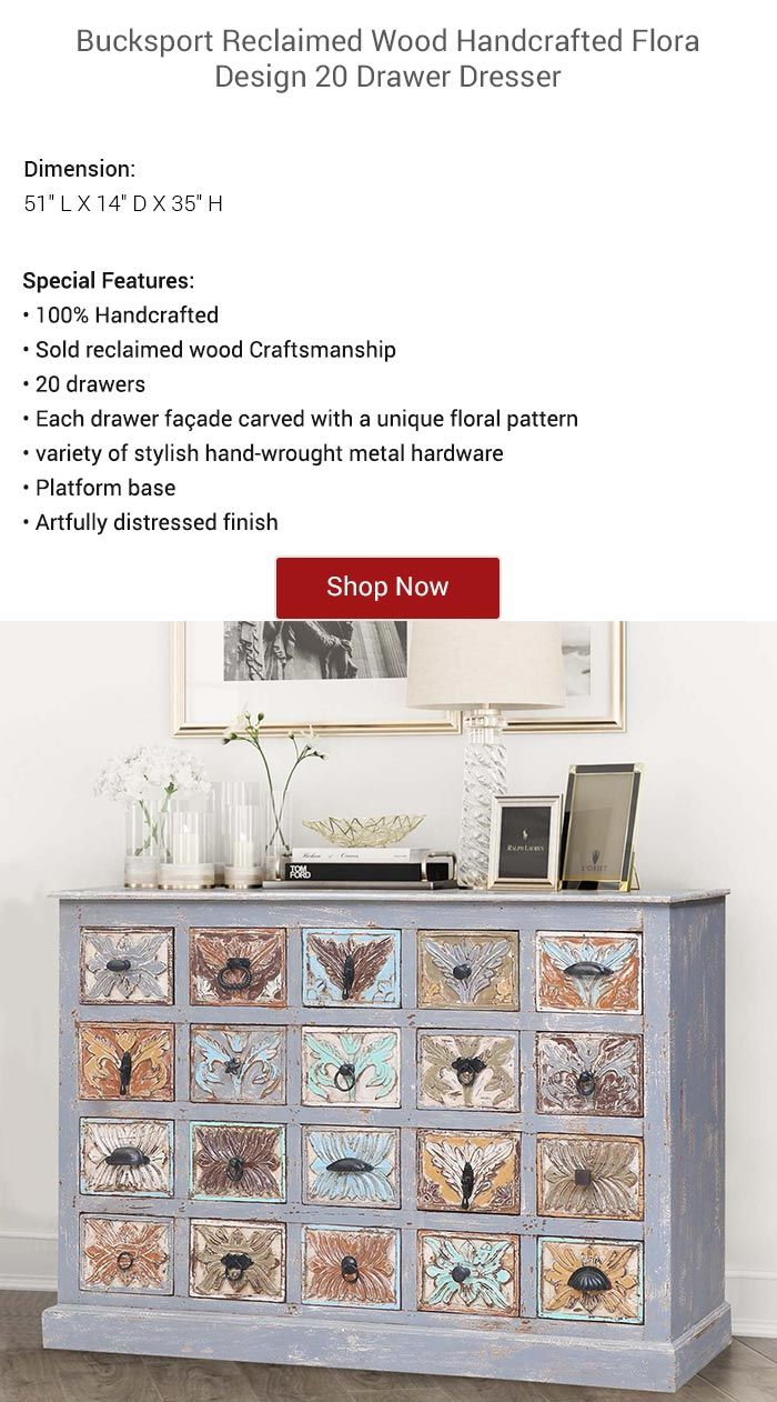 Introduce amazing compartmentalization and rustic duality in your home interiors by furnishing with our flora design also bucksport reclaimed wood handcrafted drawer dresser rh pinterest