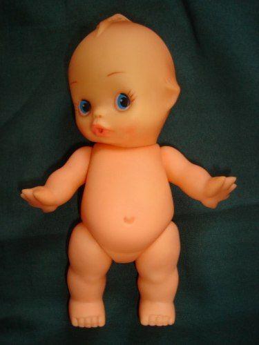 raro boneco kewpie anos 60 borracha 20 cm estrela atma trol