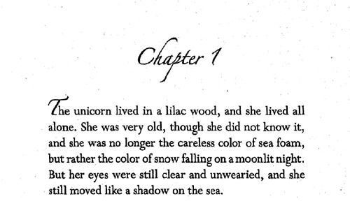 From The Last Unicorn By Peter S Beagle