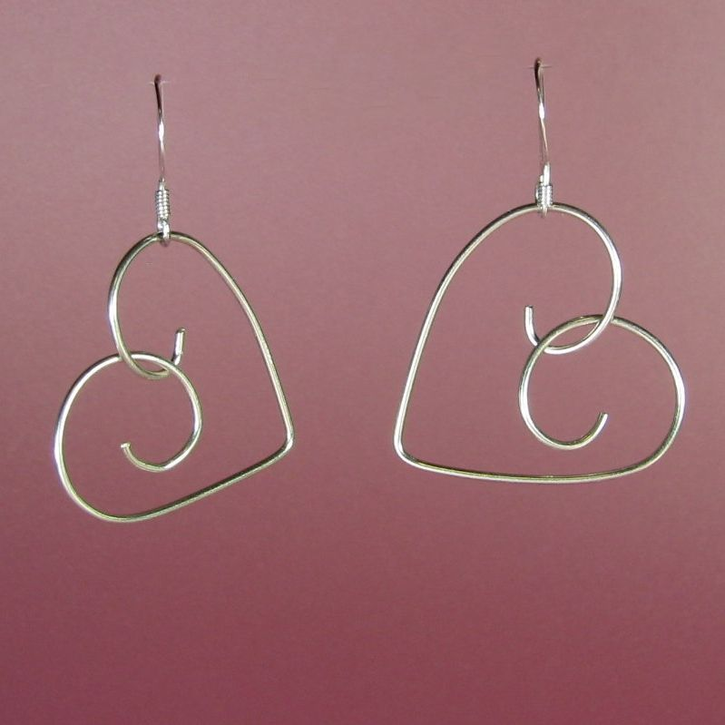 pinterest silver wire jewelry hearts | 925 Sterling Silver ...