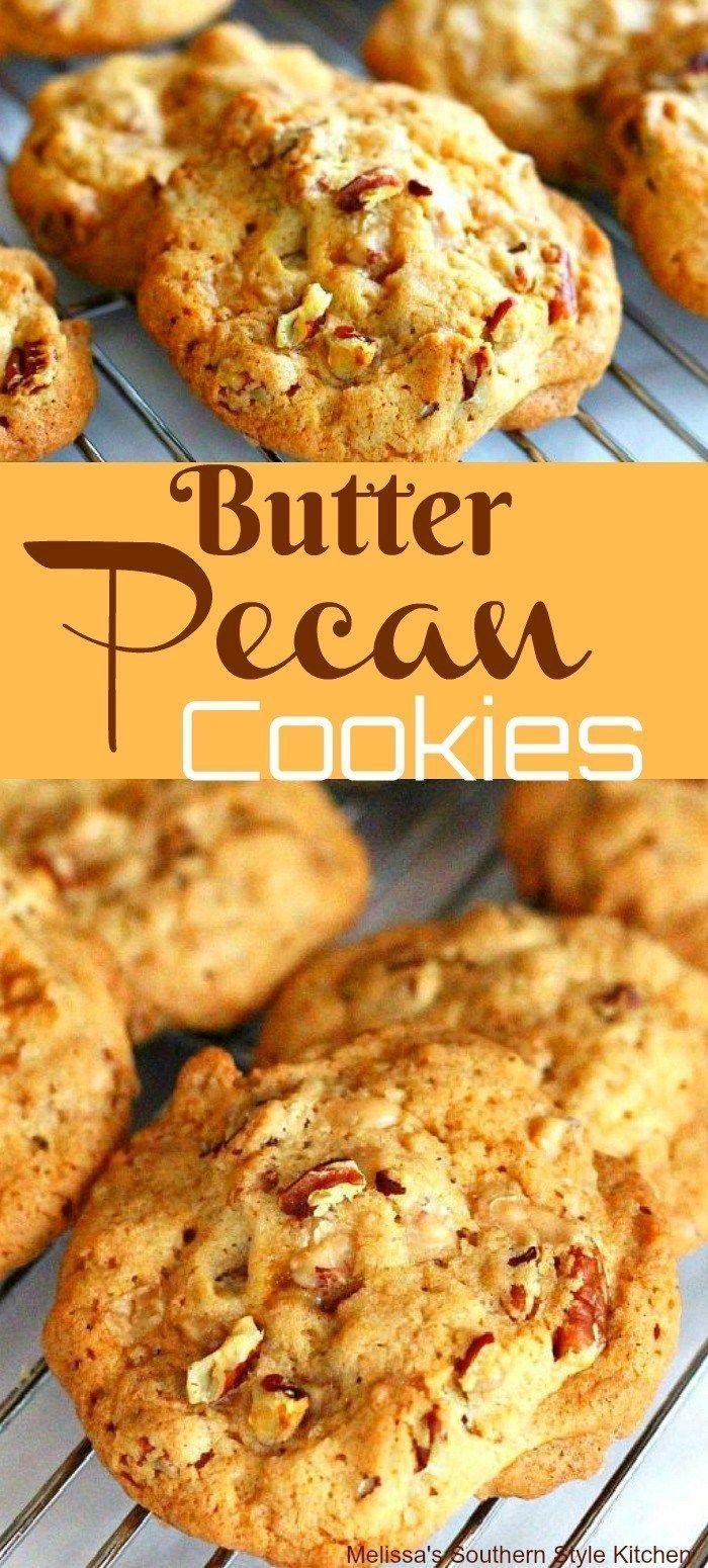 Butter Pecan Cookies #butterpecan #butterpecancookies #cookies #cookierecipes #toffee #pecans #southernstyle #southernfood #melissassouthernstyekitchen #holidays #holidaybaking #cookieswap #mothersday #christmas #christmascookies #thanksgivingrecipes #baking #recipes #dessertfoodrecipes #food