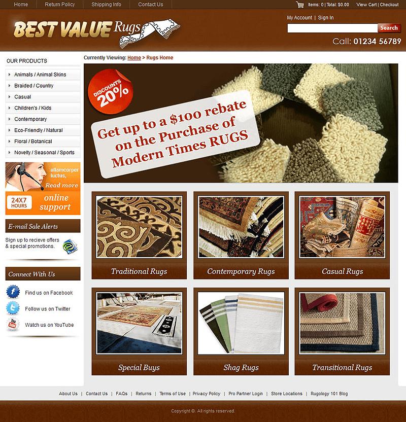 Best Value Custom CMS website Designed and Developed for Rugs ...