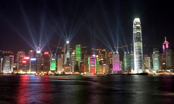 A Symphony of Lights - Hong Kong    A light show held every night, it holds the Guinness World Record for largest permanent light and sound show.