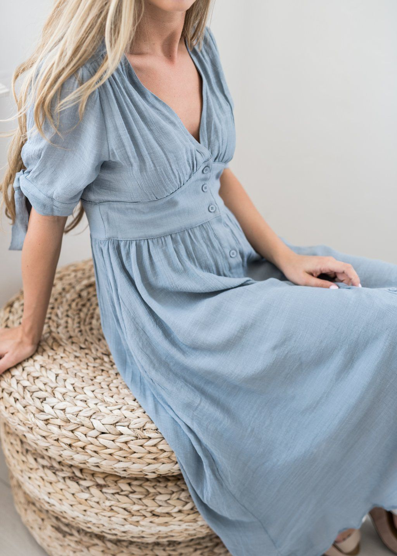 6c0535bfe02 Lucerne Wind Button-Down Dress, nursing friendly dress, maternity dress,  bridesmaid dress, modest dress, modest fashion, jessakae, bell sleeves, ...