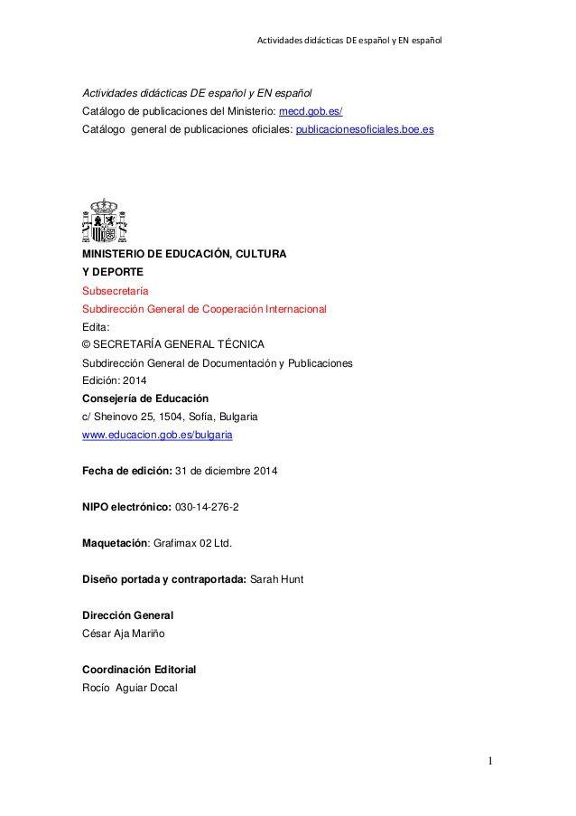 Actividades didácticas DE español y EN español 2 PRESENTACIÓN El - my perfect resume customer service
