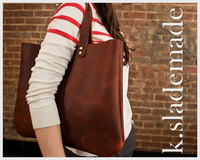 Leather satchel.
