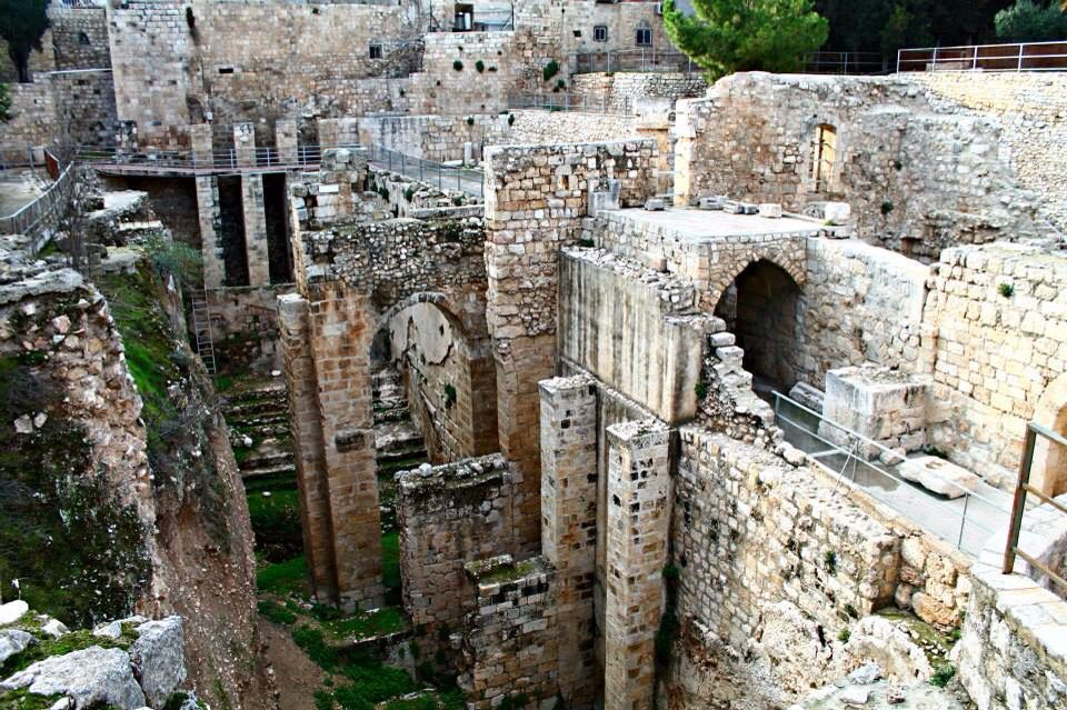 Pool Of Bethesda Near The Sheep Gate Is The Place In The Book Of John Chapter 5 Where One Of The Many Miracles Of Yeshua Took Natural Landmarks Places Travel