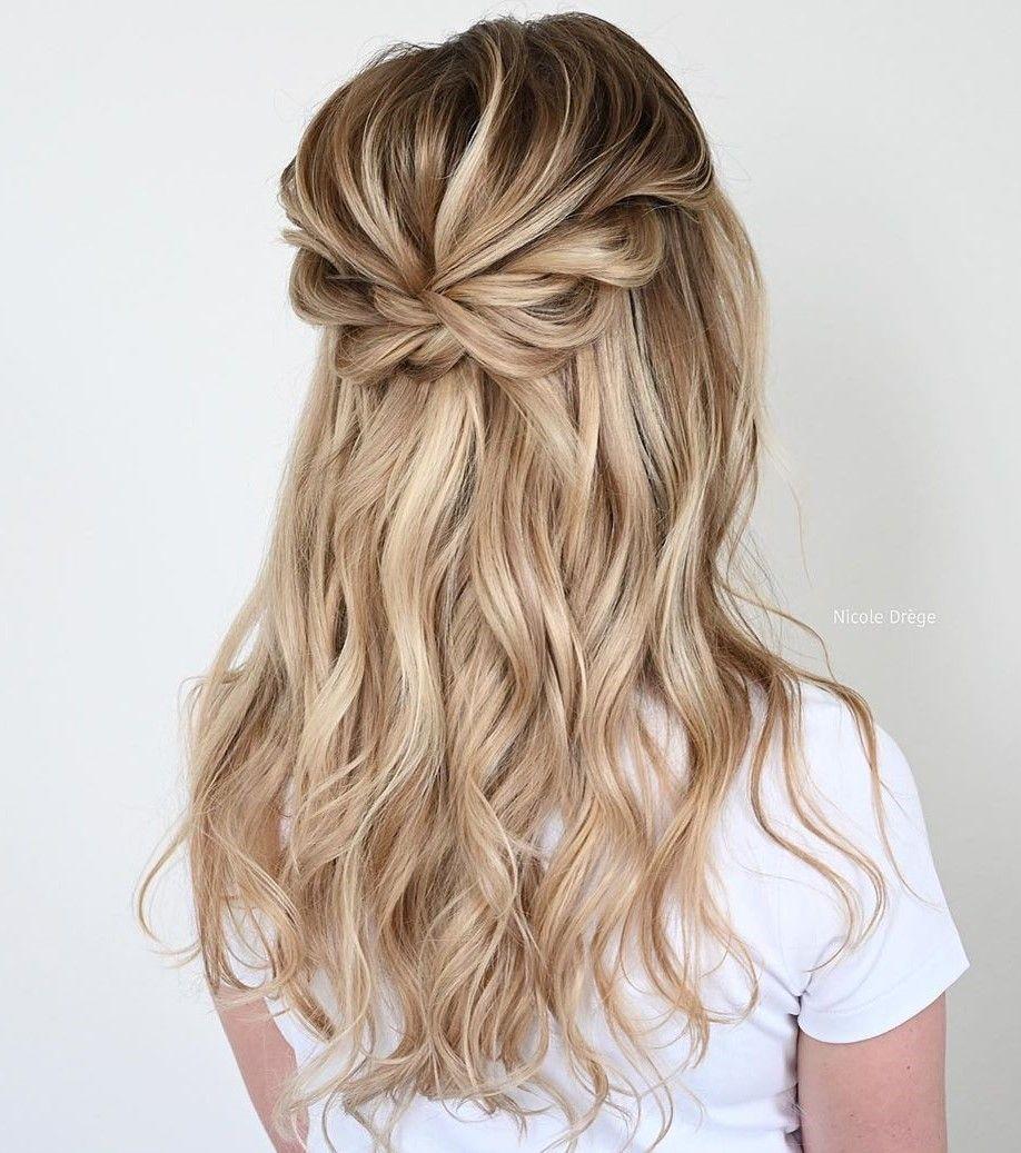 50 Trendiest Half Up Half Down Hairstyles For 2021 Hair Adviser Down Hairstyles Bridemaids Hairstyles Wedding Hair Half