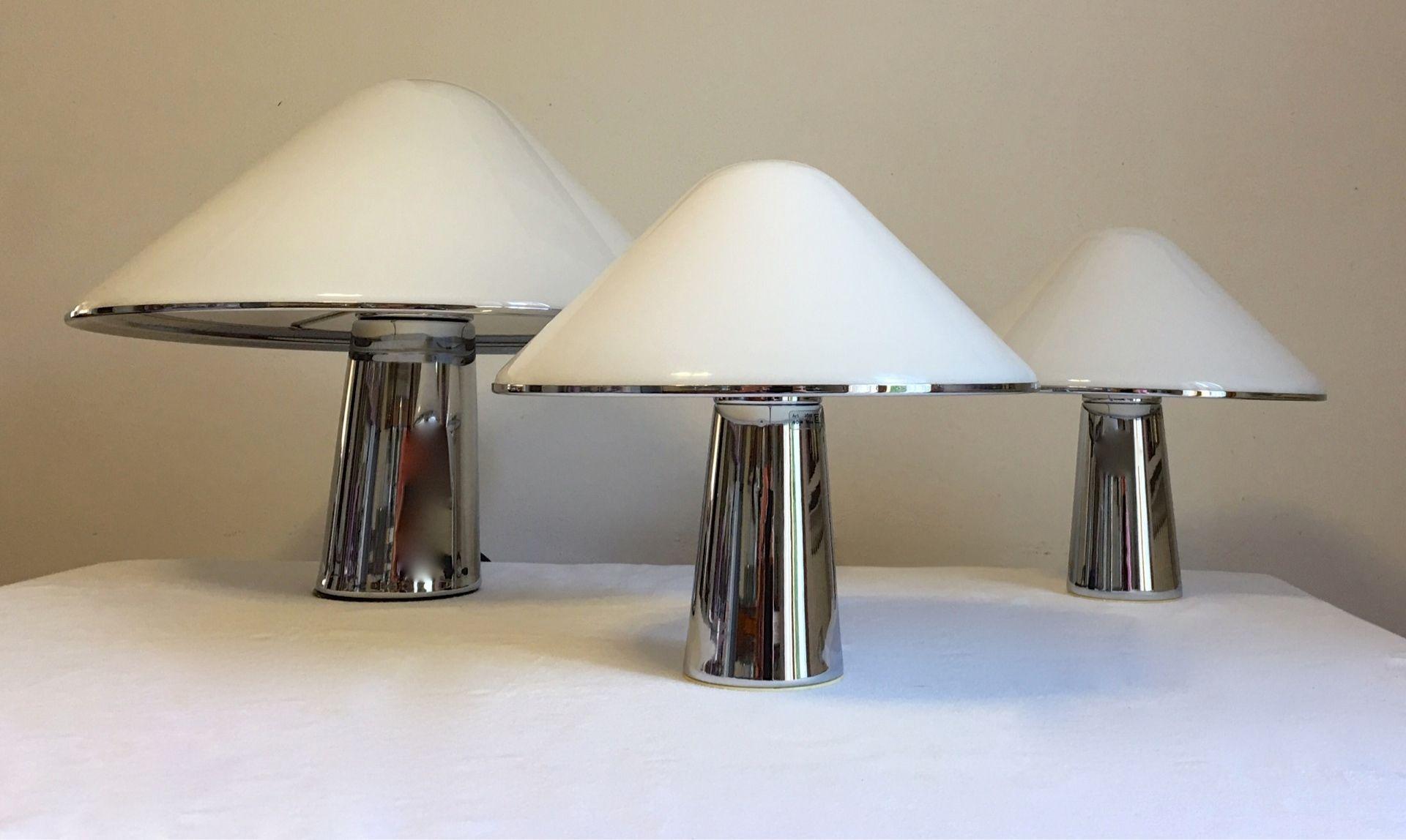 Lampes Champignon par Harvey Guzzini pour iGuzzini, 1970
