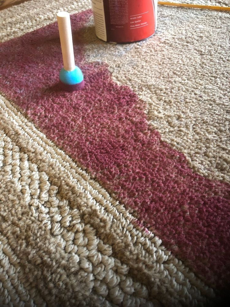 When You Can T Find A Rug Paint One Painted Rug Diy Rug Dye Carpet