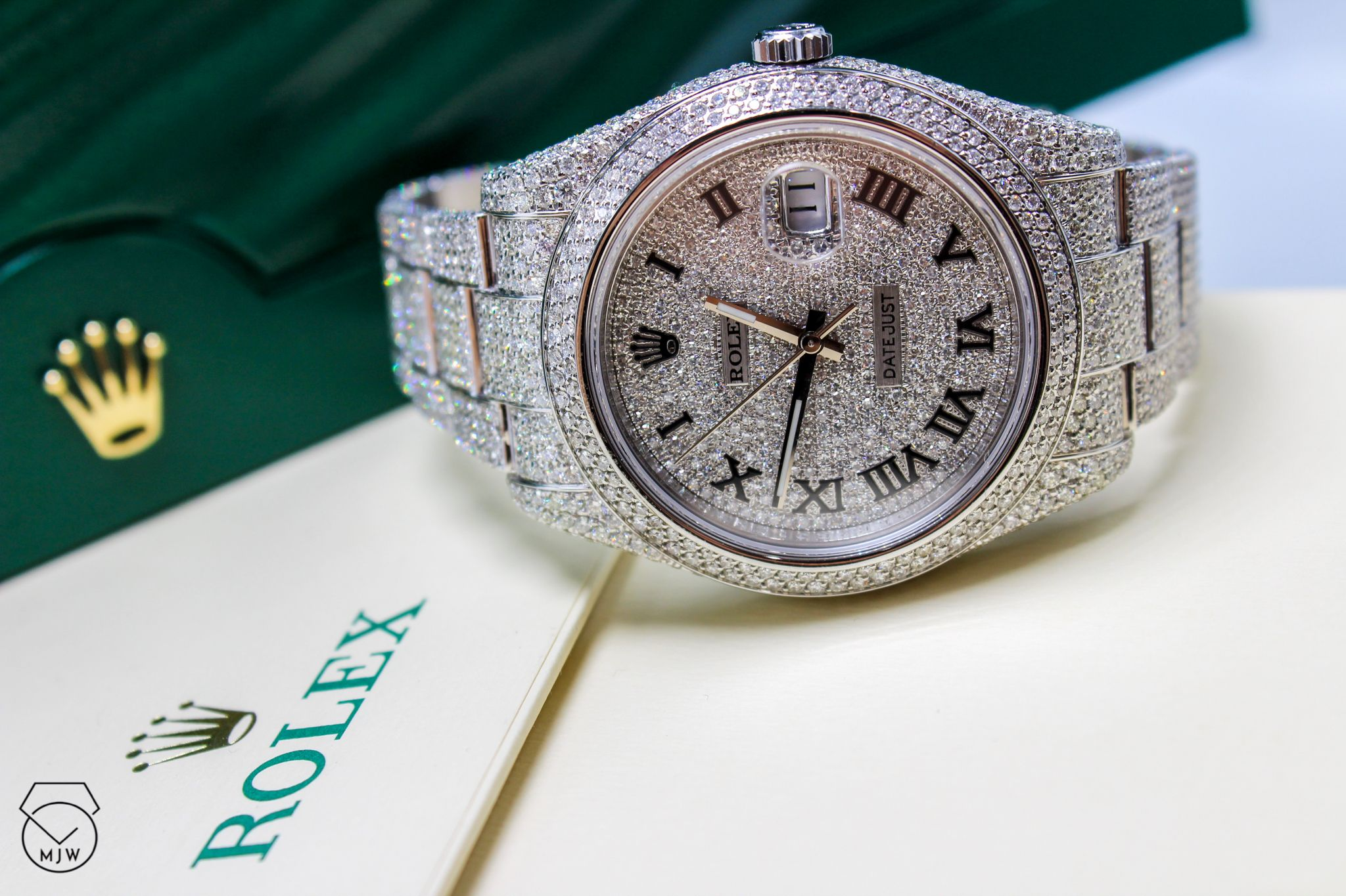 Rolex Stainless Steel Datejust Full Iced Out Mjwdtla