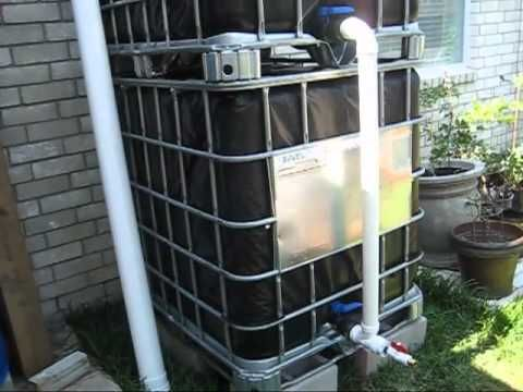 here i show how to connect and test the water pressure of my rainwater collection system. Black Bedroom Furniture Sets. Home Design Ideas