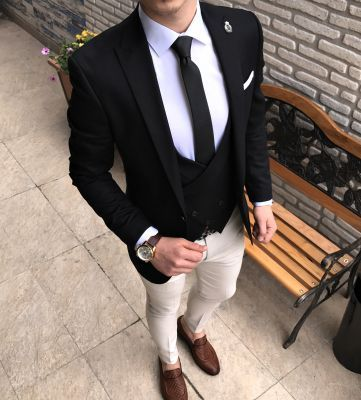 b5accbc75e84d Terziademaltun - İtalyan stil erkek ceket yelek pantolon kombin takım elbise  T2277