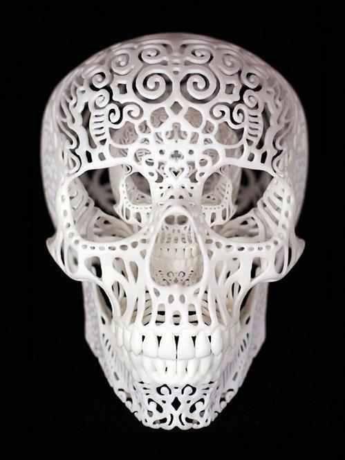 lace like skull